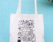 Portland Oregon - Tote Bag - Hand Screen Printed
