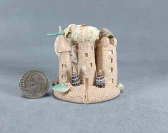 Handcrafted Miniature Fairy Sandcastles  OOAK by O'Dare