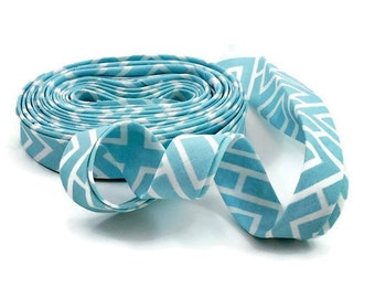 Bias Tape Double Fold Blue Mod Box Modern Home- Half Inch