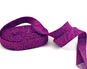 Purple Lace Bias Tape Double Fold- Half Inch