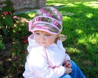 Crochet Pattern 146 - Crochet Hat Pattern Era Visor Hat - Visor Beanie Hat Toddler Child Teen Adult Autumn Girls Boys Ladies Men Unisex