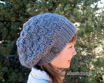 Knitting Pattern 157 - Hat Knitting Pattern Knitting Hat Pattern Doris Slouchy Hat Slouchy Beanie Teen Adult Ladies Unisex Women Winter Hat