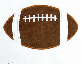 Football Applique Embroidery Design, football applique, sports applique, machine embroidery, applique, football, sports embroidery, boys