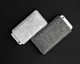 iPhone 6 Wool Felt Sleeve, iPhone 6 Plus Eco-friendly Felt Case Handmade Cover // CROSS (multicolor)