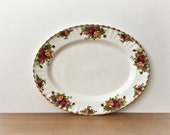 Old Country Roses Oval Serving Platter Royal Albert China