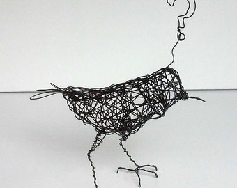 QUESTIONING BIRD III - Original Handmade Wire Sculpture