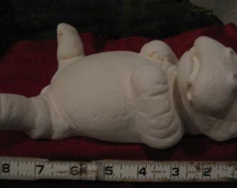 Lounging Hippo, Wildlife Hippo, African Hippo, Hippopotamus, Lying Hippo, Ready to paint, Ceramic bisque, ceramic u-paint,bisque u-paint