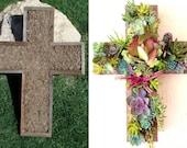 DIY CROSS Succulent Planter Outdoor Decor Perfect Unique Gift and Home Decor