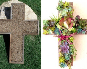 DIY CROSS Succulent Planter Outdoor Decor Perfect Unique Gift and Home Decor