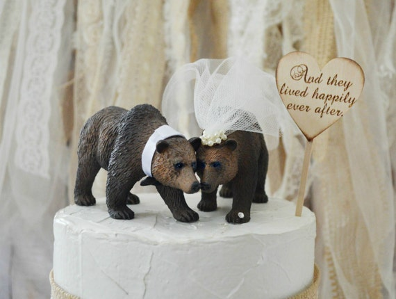 brown bear wedding cake toppers grizzly wedding cake topper brown wedding cake 12190