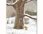 "Nursery Art Print, Classic Winnie the Pooh Wall Decor (Boys Room, Girls Room) Winnie-the-Pooh Print --- ""Pooh's Visit"""