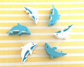 Set of 6 Mini Clips: Dolphins