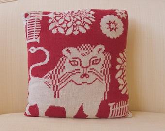 lion throw pillow Williamsburg Goodwin Weavers