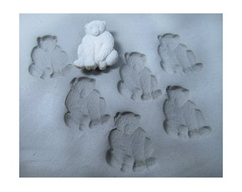 ceramic stamps - bisque stamps- clay tools -bear stamp -stamps for clay -  clay stamps - pottery stamps -   ( 268 )