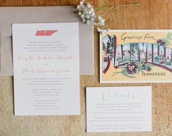 Wedding Invitation, Printable Wedding Invitation, DIY Wedding Stationery, Digital Wedding Invitation, Rustic, State Invitations - #S12