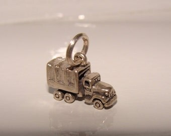 Sterling Silver Troop Truck Charm, Memento of Tour of Duty