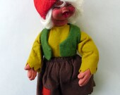 Vintage Girl Peasant Gnome by Arne Hasle, made in Norway, Nisse Elf Troll Gnome Goblin