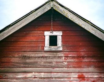 Rustic Barn Photograph, Farmhouse Decor, Red Barn Photo, Weathered Wood, Country Photo, Rustic Photography, Barn Print, Rustic Home Decor