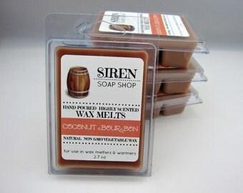 Coconut Bourbon Wax Melts, Wax Tarts, Coconut, Bourbon