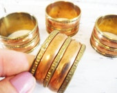 Four napkin rings copper and brass boho style vintage
