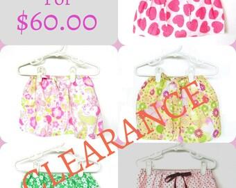 Set of 5 Infant Girls Skirts Girl Toddler Skirts Baby Girl Skirts with Drawstring Waist Girls Adjustable Skirts