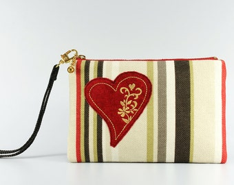 Clutch / Embroidered purse / Bag / Pouch