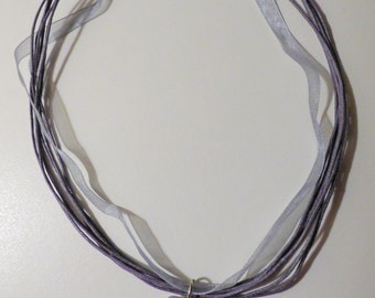 Amethyst Crystal Wire-wrapped Necklace
