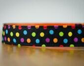 Buckle Dog Collar, Merry, dots, size medium
