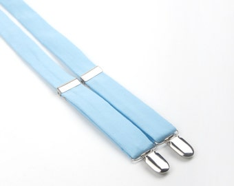 Baby blue suspenders, Light Blue suspenders, boys suspenders, toddler suspenders, light blue braces, ring bearer outfit, men's suspenders,