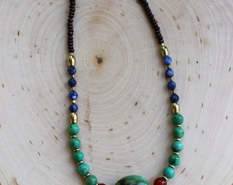 Native Heart // Turquoise, Carnelian, Sodalite & Magnesite