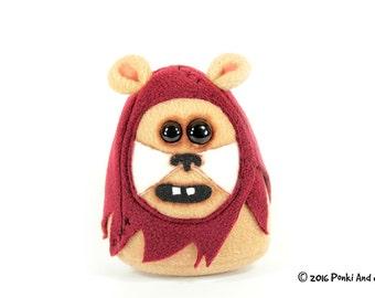 Ewok Inspired Bear Stuffed Toy, Wicket Star Wars Plush Animal, Geeky movie plushie