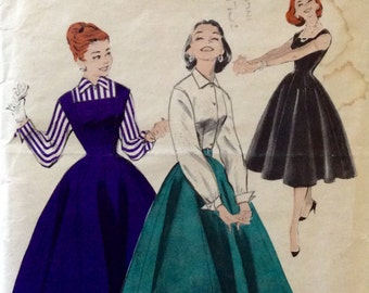 "Vintage 1950s Butterick Misses' Blouse, Jumper, & Skirt Pattern 7455 Size 13 (31"" Bust)"