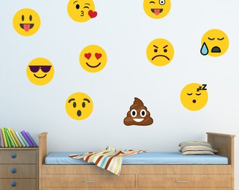 Large Girl Emoji Wall Decal Poop Emoji Troll Cat Emojis - Emoji wall decals