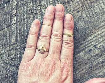 Arrowhead Ring - Gold - Tribal - Boho Chic