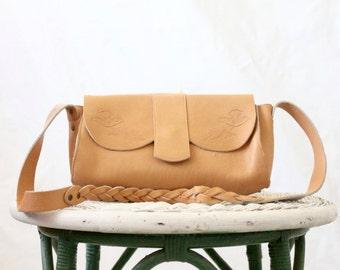 c1970's Tooled Saddle Leather Handbag