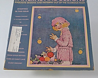 1974  Magazine Old Time NeedleWork November Issue Hobbies and Crafts Patterns Designs Out of Glorious Past