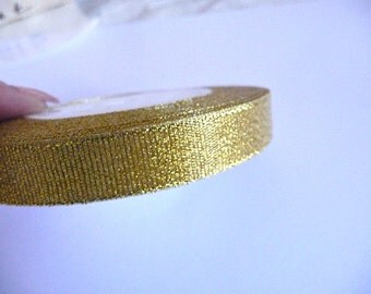 Gold Ribbon, Golden ribbon, Mesh Ribbon, Net Ribbon, Metallic ribbon, Gold metallic ribbon, metallic gold ribbon, 10 mm ribbon, Decorative