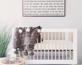 Born to Blaze - Customizable wood sign