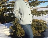 vintage hudson bay coat with fur trim - 70s