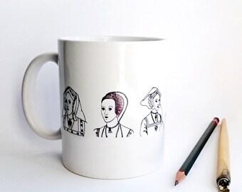 The Six Wives Of Henry VIII Mug Geeky Mug Cute Mug  The Tudors Mug Anne Boleyn