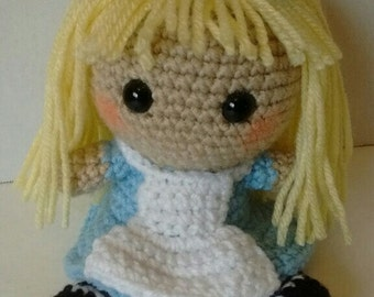 Alice in Wonderland Through The Looking Glass Inspired Amigurmi Doll PATTERN ONLY