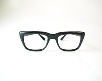 Vintage 50s thick black Zyloware eyeglasses frames