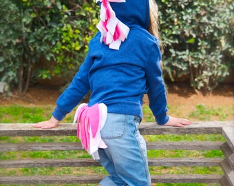 Unicorn Hoodie Costume, Blue Unicorn Hoodie, Christmas Unicorn Hoodie, Toddler Unicorn Costume, Girl Dress Up Clothes, Girl Christmas Gift