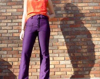 Aubergine Dream High Waisted Pants 1970s M/L