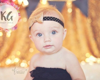 Gold Baby Headband - Baby Girl Headband - Baby Headbands - Baby Girl - Headband - Newborn Headbands - Baby - Infant Headband - Headbands