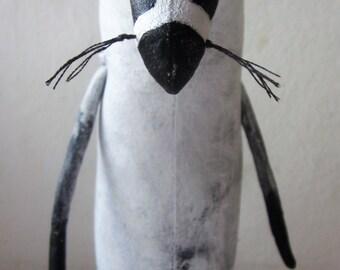 Folkart badger, badger art, woodland badger, badger gift