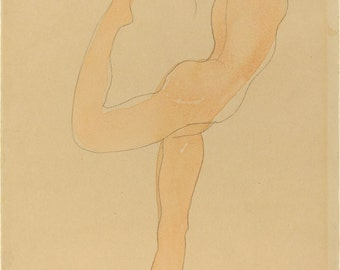 The Erotic Drawings of Auguste Rodin: Dancing Figure, 1905. Fine Art Reproduction.