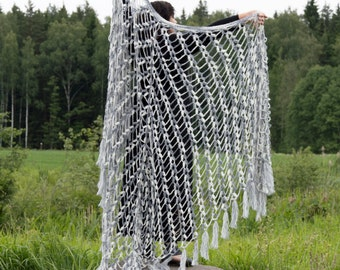 Crochet Mohair Shawl, Handmade Triangle Shawl, Accessory for all Seasons, Lace Shawl, Plus Size, Crochet Large Shawl, Giant Shawl, XXXLarge