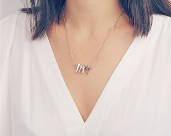 Delicate chic gold teeth necklace