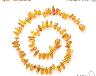 15% OFF THRU OCT Amber Teething Necklace, 100 Percent Genuine Baltic Amber,Drop Amber Beads, Baby Necklace